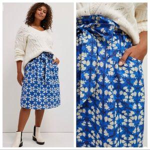 NWT Anthropologie Porridge Lanai Midi Skirt